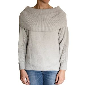 Topshop Blue/Grey Cowl Neck Sweater - Size 4